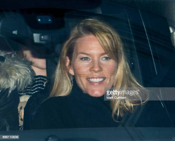 Autumn Phillips attends a Christmas lunch for the extended Royal Family at Buckingham Palace on December 20 2017 in London England