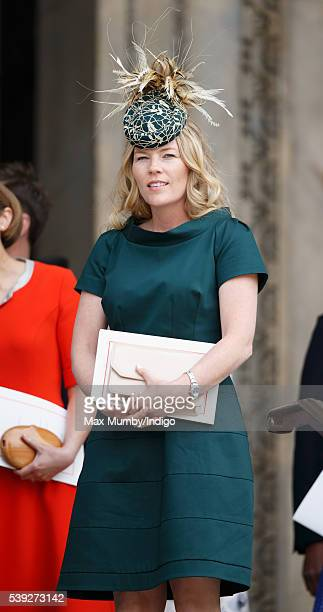 Autumn Phillips attends a national service of thanksgiving to mark Queen Elizabeth II's 90th birthday at St Paul's Cathedral on June 10 2016 in...