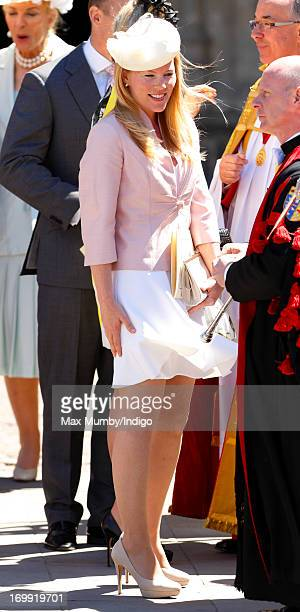 Autumn Phillips attends a service of celebration to mark the 60th anniversary of the Coronation of Queen Elizabeth II at Westminster Abbey on June 4...