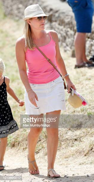 Autumn Phillips attends day 3 of The Festival of British Eventing at Gatcombe Park on August 5, 2018 in Stroud, England.