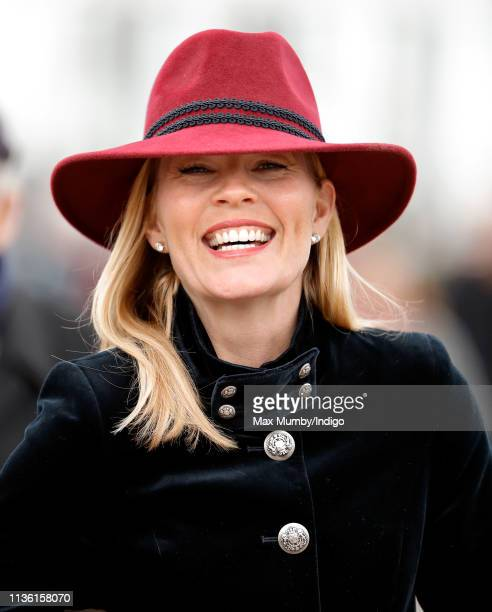 Autumn Phillips attends day 4 'Gold Cup Day' of the Cheltenham Festival at Cheltenham Racecourse on March 15 2019 in Cheltenham England