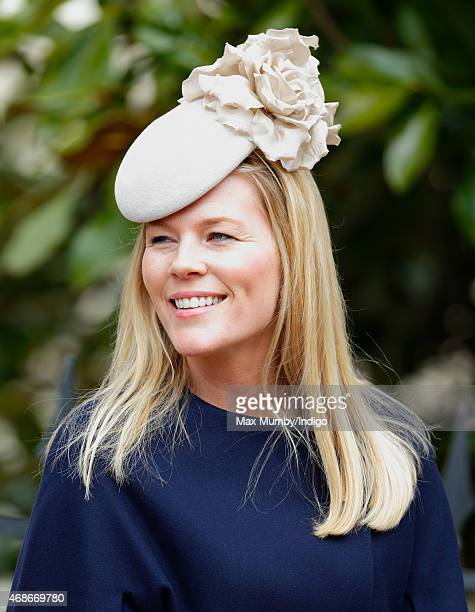 Autumn Phillips attends the Easter Matins service at St George's Chapel Windsor Castle on April 5 2015 in Windsor England