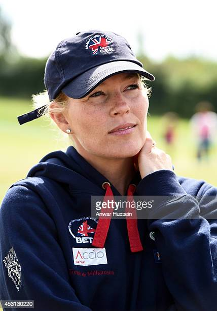 Autumn Phillips attends the Festival of British Eventing at Gatcombe Park on August 03 2014 in Minchinhampton England