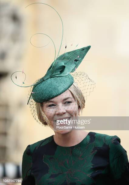 Autumn Phillips attends the wedding of Princess Eugenie of York and Jack Brooksbank at St George's Chapel in Windsor Castle on October 12 2018 in...