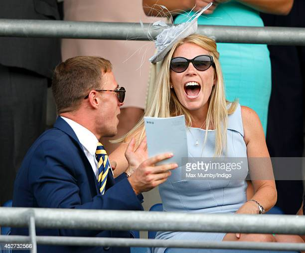 Autumn Phillips watches the racing as she attends the King George Day Meet at Ascot Racecourse on July 26 2014 in Ascot England