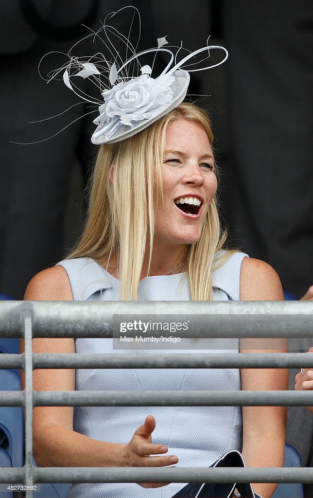 Autumn Phillips watches the racing as she attends the King George Day Meet at Ascot Racecourse on July 26, 2014 in Ascot, England.