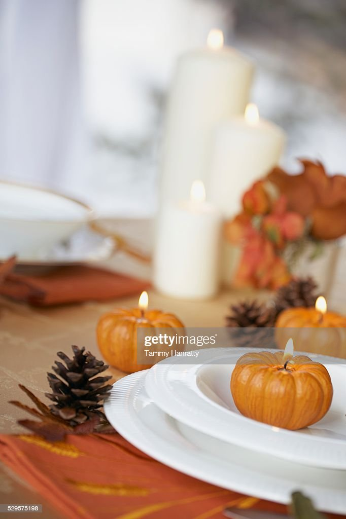 Autumn Place Setting : Stock Photo