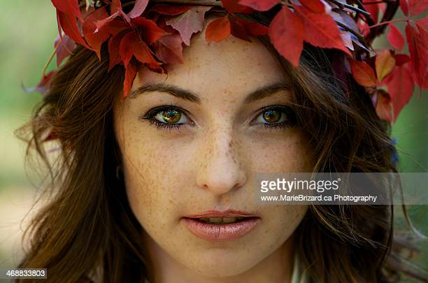 autumn portrait of a girl - hazel eyes stock pictures, royalty-free photos & images