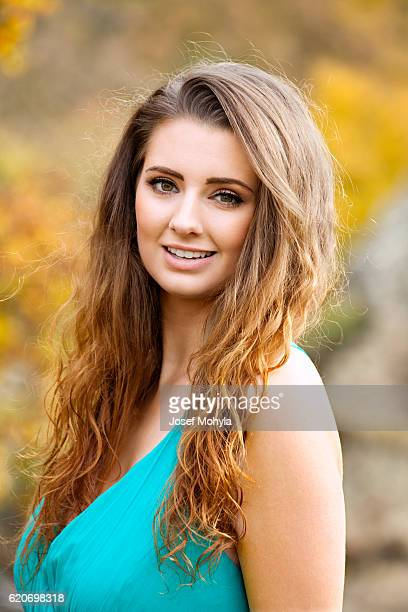Autumn portrait of attractive woman