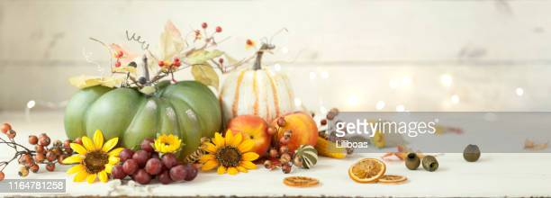 autumn pumpkin background on wood - thanksgiving wallpaper stock photos and pictures