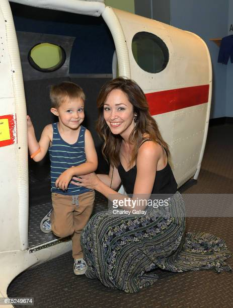 Autumn Reeser and Dashiell Ford attend Zimmer Children's Museum Presents 'We All Play' Annual FUNraiser on April 30 2017 in Los Angeles California