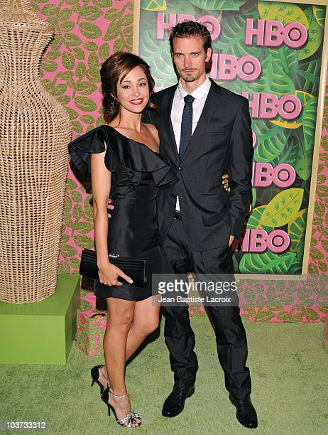 Autumn Reeser and husband Jesse Warren arrive at HBO's Annual Emmy Awards Post Award Reception at The Plaza at Pacific Design Center on August 29...