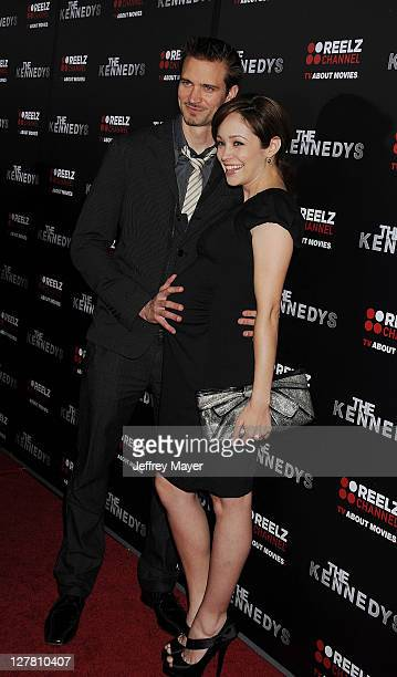 Autumn Reeser and husband Jesse Warren attend The Kennedys World Premiere at AMPAS Samuel Goldwyn Theater on March 28 2011 in Beverly Hills California