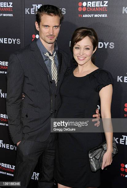 Autumn Reeser and Jesse Warren arrive to the World Premiere of The Kennedys at The Academy Theater on March 28 2011 in Beverly Hills California