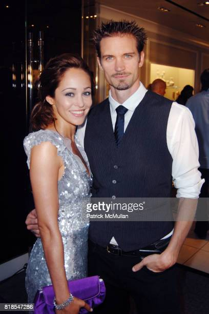 Autumn Reeser and Jesse Warren attend Maria Bello and Patricia Arquette cohost Don't Forget Haiti Judith Leiber Event to Benefit Vital Voices at...