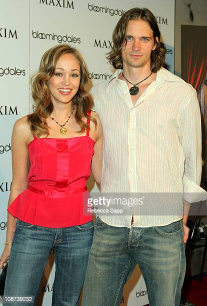 Autumn Reeser and Jesse Warren during Maxim Magazine/Bloomingdales' Celebrate The November Issue at LAX in Hollywood, CA, United States.