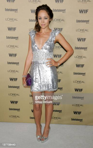 Autumn Reeser arrives at the Entertainment Weekly and Women In Film PreEmmy Party at the Restaurant at the Sunset Marquis Hotel on August 27 2010 in...