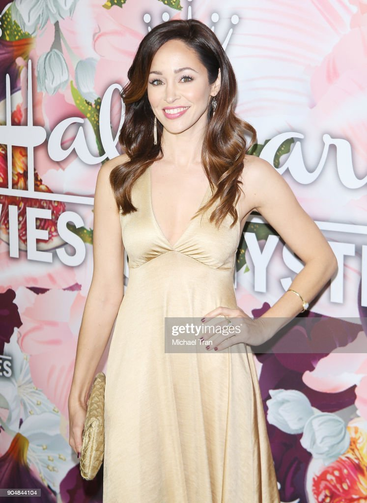 Autumn Reeser arrives to the Hallmark Channel and Hallmark Movies and Mysteries Winter 2018 TCA Press Tour held at Tournament House on January 13, 2018 in Pasadena, California.