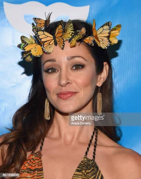 Autumn Reeser at the UNICEF Next Generation Masquerade Ball at Clifton's Republic on October 27 2017 in Los Angeles California