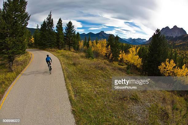 Autumn Road Bike Rider