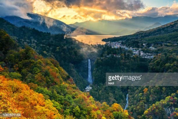 autumn scenery in nikko - 栃木県 ストックフォトと画像
