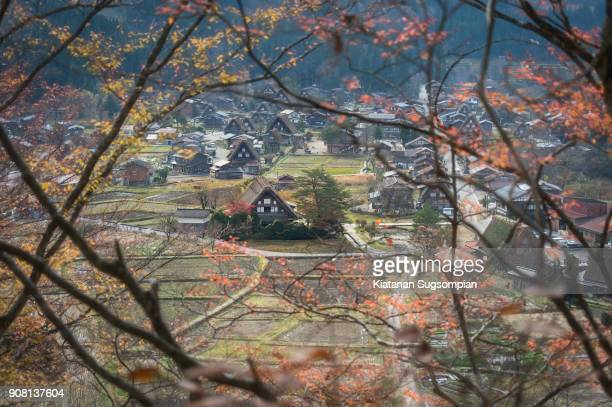 autumn shirakawago - takayama city stock pictures, royalty-free photos & images