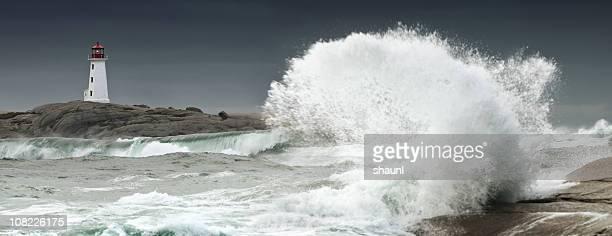 herbst-storm - leuchtturm sturm stock-fotos und bilder