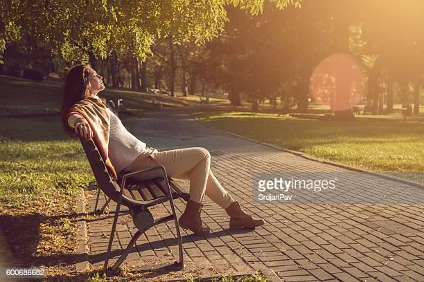 Autumn sunbathing
