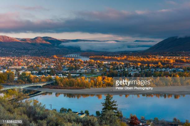 autumn sunrise over kamloops #3 - kamloops stock pictures, royalty-free photos & images