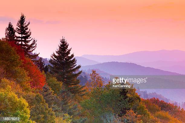 autumn sunrise - tennessee stock pictures, royalty-free photos & images