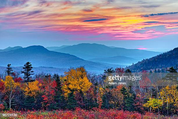 autumn sunrise - new hampshire stock pictures, royalty-free photos & images