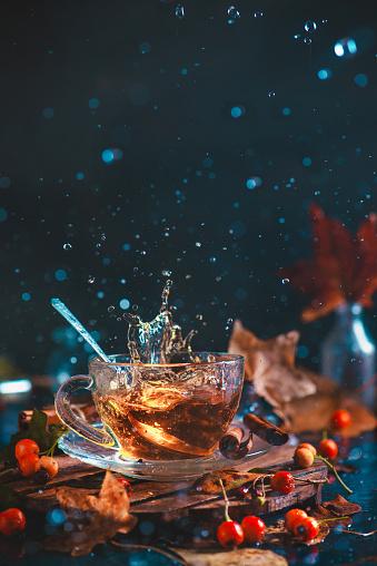 Autumn Teatime - gettyimageskorea