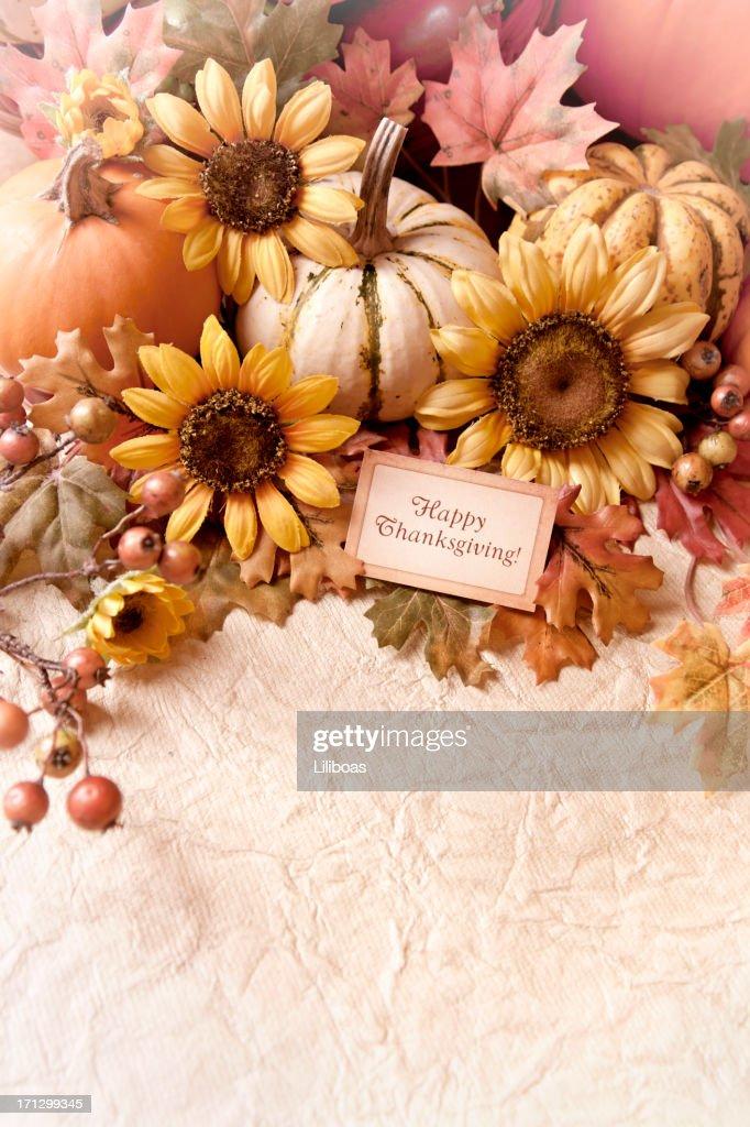 Autumn Thanksgiving Arrangement : Stock Photo