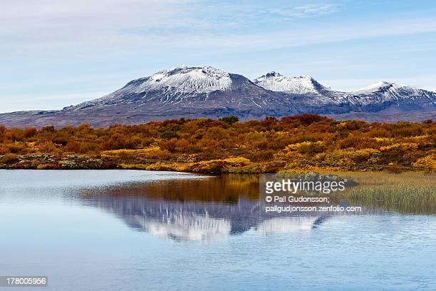 autumn - thingvellir, national park, iceland - thingvellir stock photos and pictures