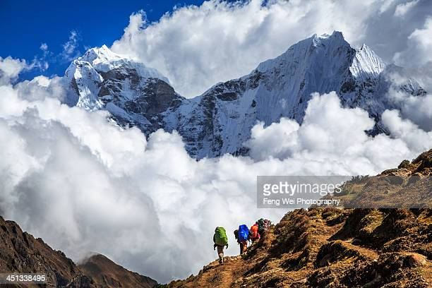 Autumn Trekking In Himalayas, Sagarmatha NP, Nepal