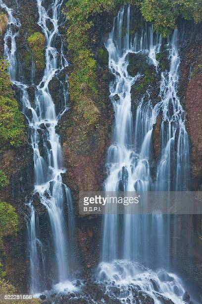Autumn View of Kegon Falls in Nikko, Japan