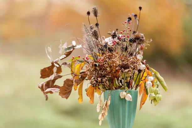 Autumn Wabi Sabi flowers in a vase