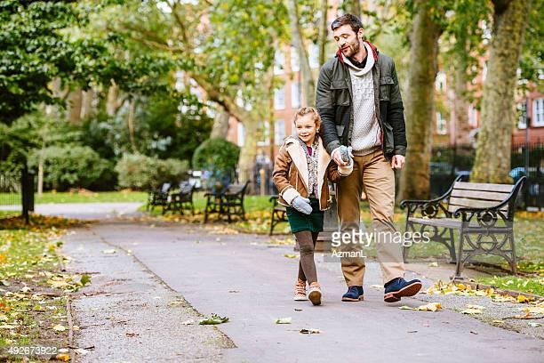 Autumn Walk Through a Park