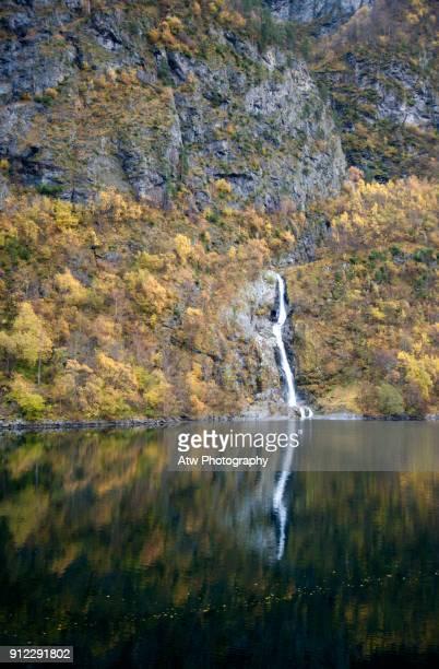 Autumn Waterfall, Aurlandsfjord, Norway