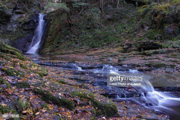autumn waterfall - mie prefecture stock pictures, royalty-free photos & images