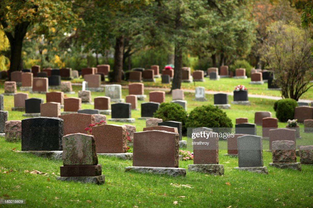Autumnal Cemetery : Stock Photo