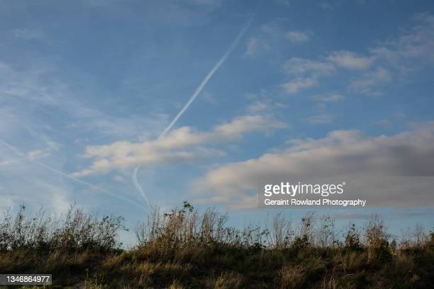 autumnal sky, england - southend on sea stock pictures, royalty-free photos & images