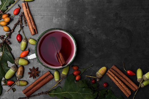 Autumnal still life with mulled wine - gettyimageskorea