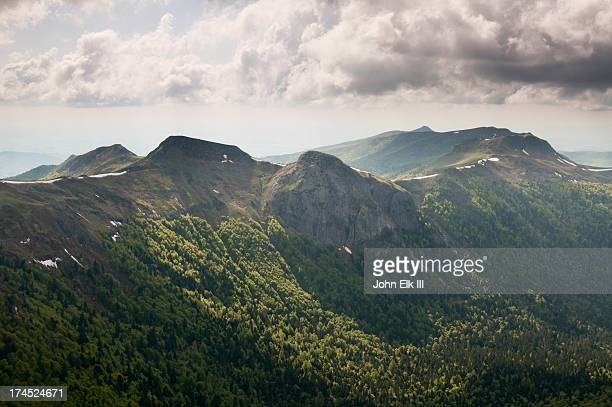 auvergne landscape from puy mary summit - cantal stock pictures, royalty-free photos & images