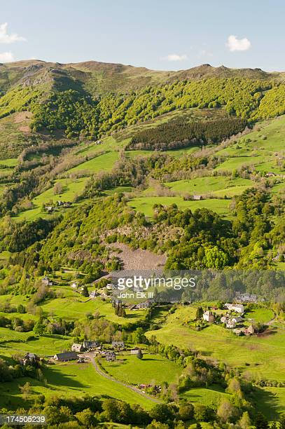 auvergne landscape - cantal stock pictures, royalty-free photos & images