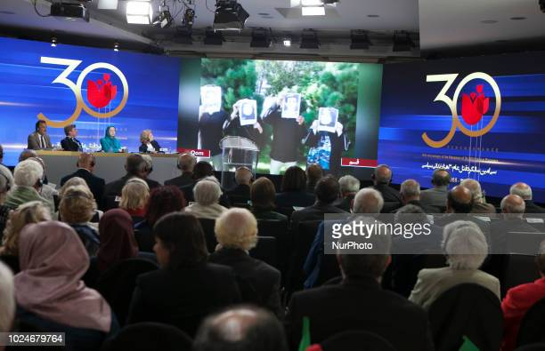AuverssurOise France Iranians commemorated the 30000 political prisoners massacred in 1988 in Iran in an online conference simultaneously held in 20...
