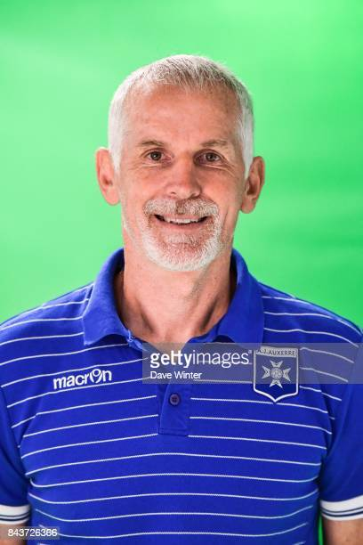Auxerre coach Francis Gillot during photocall of AJ Auxerre for new season 2017/2018 on September 6 2017 in Auxerre France