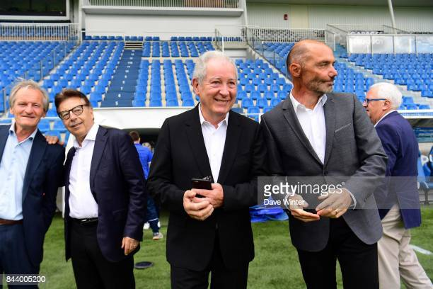 Auxerre president Francis Graille and Auxerre sporting director Cedric Daury during photocall of AJ Auxerre for new season 2017/2018 on September 6...