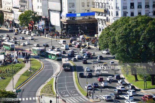 12 av 9 de julio argentina - avenida fotografías e imágenes de stock