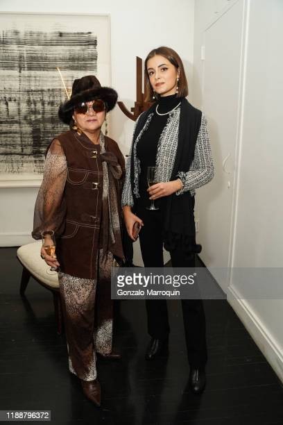 Av Marc and Elisa Carollo during the Celebration Of Achille Salvagni at Maison Gerard at the Elizabeth Collective on November 19 2019 in New York City